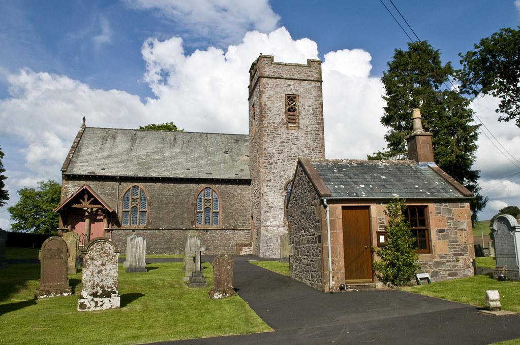 Tundergarth Lockerbie Scotland Uk Small Church In