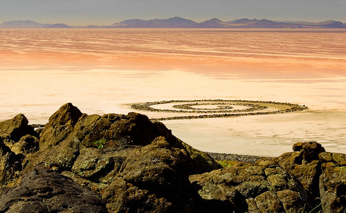 "great Salt Lake, Utah; Mystery Spiral | by Scott Stringham ""Rustling Leaf Design"""
