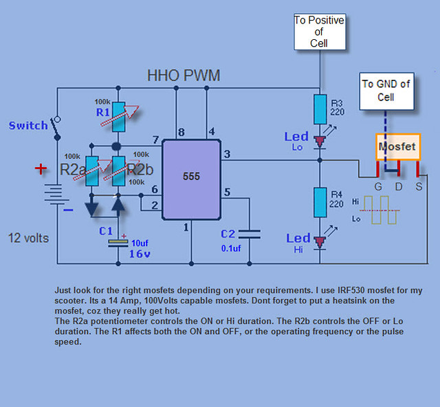 hho pwm this a simple pwm circuit on and off period flickr hho pwm by bernard borabon
