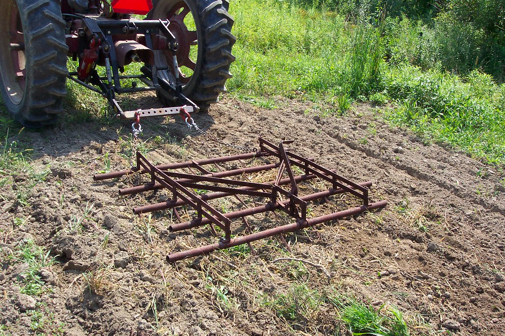 Antique Spike Harrows : What didn t work the old spike tooth harrow was too