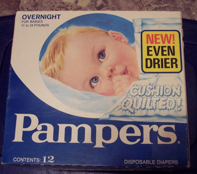 Pampers 1978 16 Pampers Overnight Cushion Quilted Size