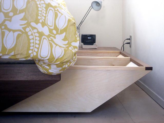 Platform Storage Bed Set Queen