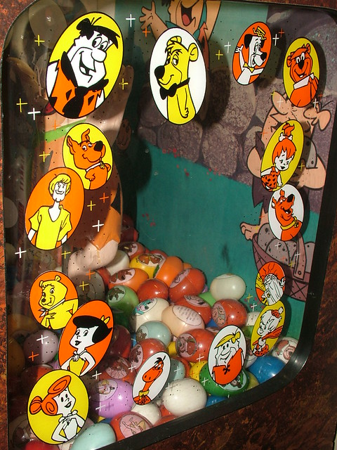 Flintstones Lucky Egg Machine This Is The Side Plexi