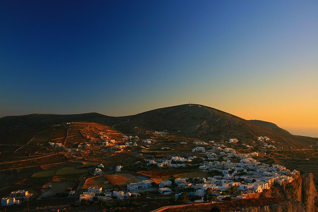 Hora, Folegandros at sunset