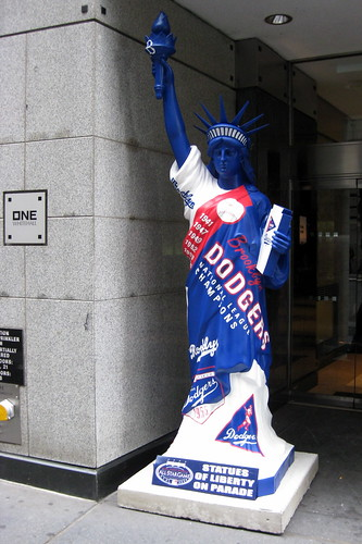 NYC - Statues of Liberty on Parade: Brooklyn Dodgers | by wallyg