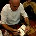 Daniel Clowes draws in the Yoda sketchbook, 08/29/08