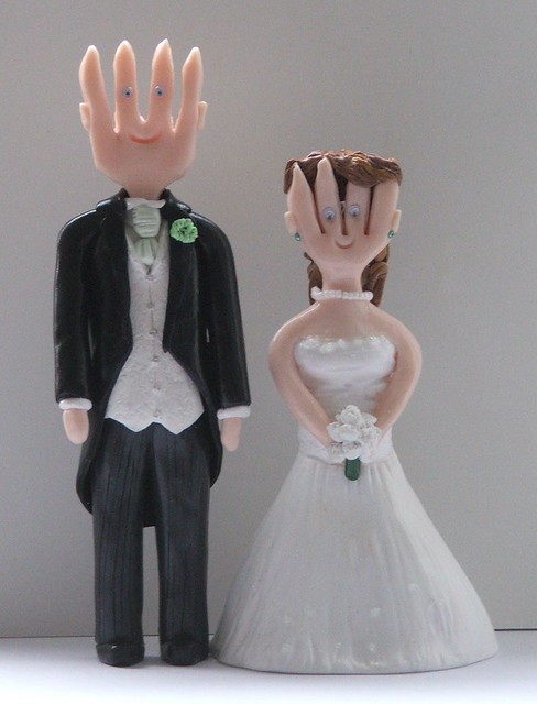 Wedding Cake Toppers Of Mr And Mrs Fork