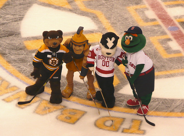 Mascot Meetup From Left To Right Blades Bruins The
