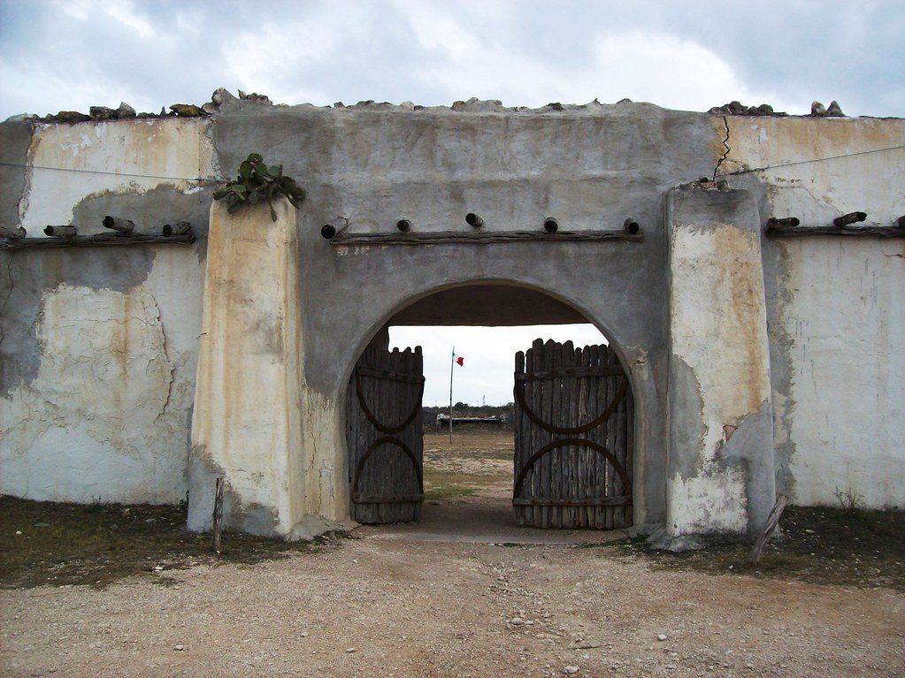 Front Gate At Alamo Village In Kinney County Texas Alamo