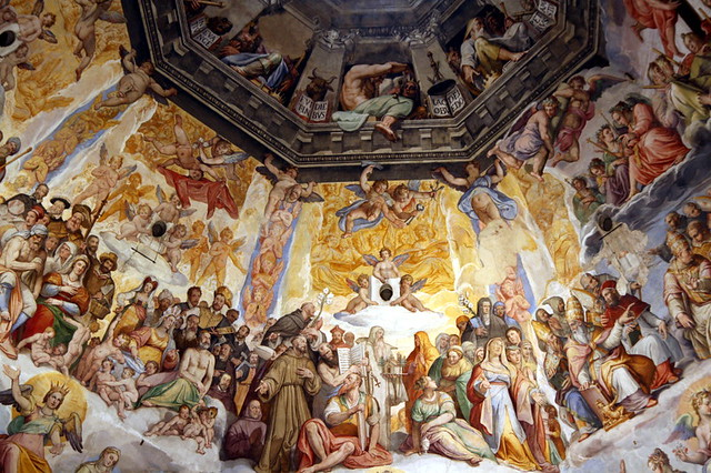 Florence Duomo Painting close up | Ceiling painting in ...