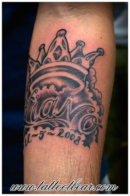 Bear With Crown Tattoo