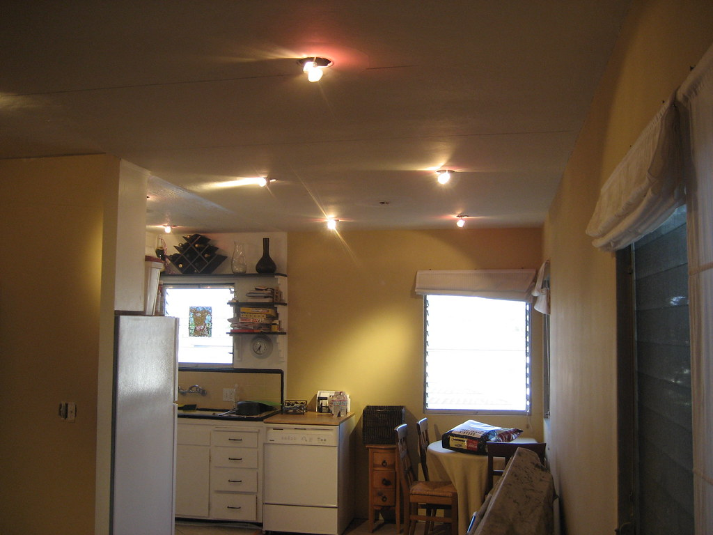 recessed lighting in the dining room not fully installed flickr. Black Bedroom Furniture Sets. Home Design Ideas
