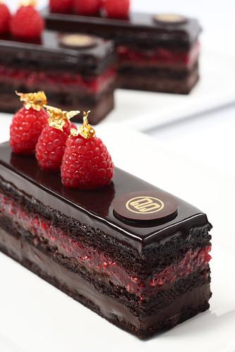 Raspberry Mousse Cake With Chocolate Ganache