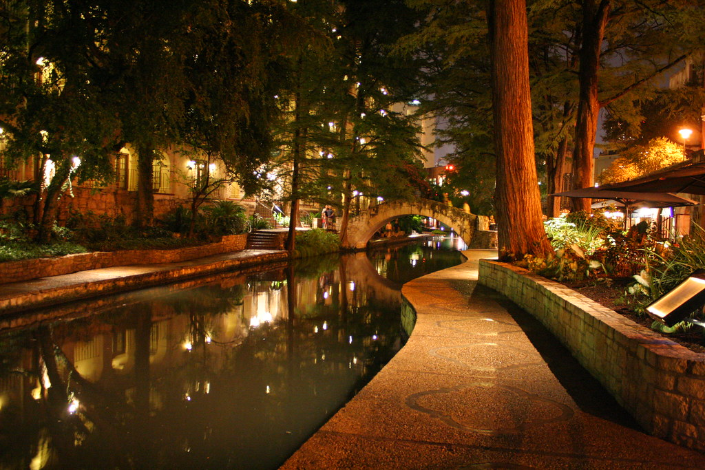 San Antonio Riverwalk At Night Taken During Recent Trip