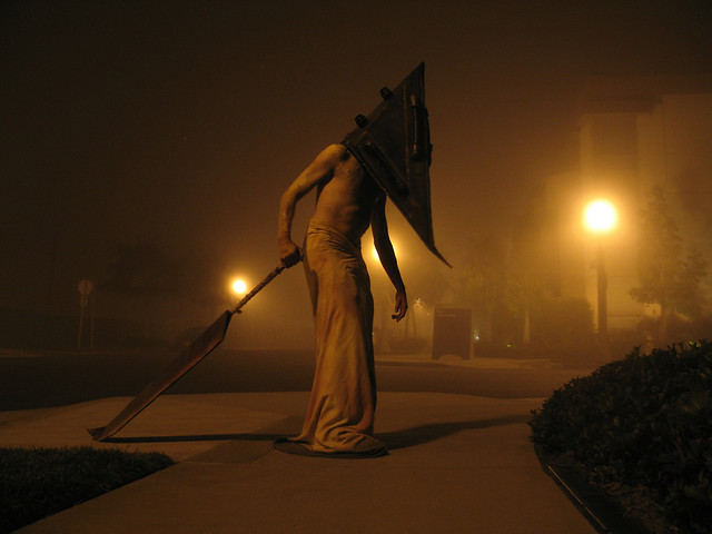 halloween bob as pyramid head by eric carl