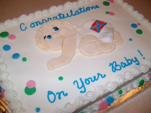 Redneck Baby Shower Cake