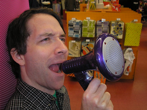 Voice Changer Megaphone - great White Elephant gift! | by Archie McPhee Seattle