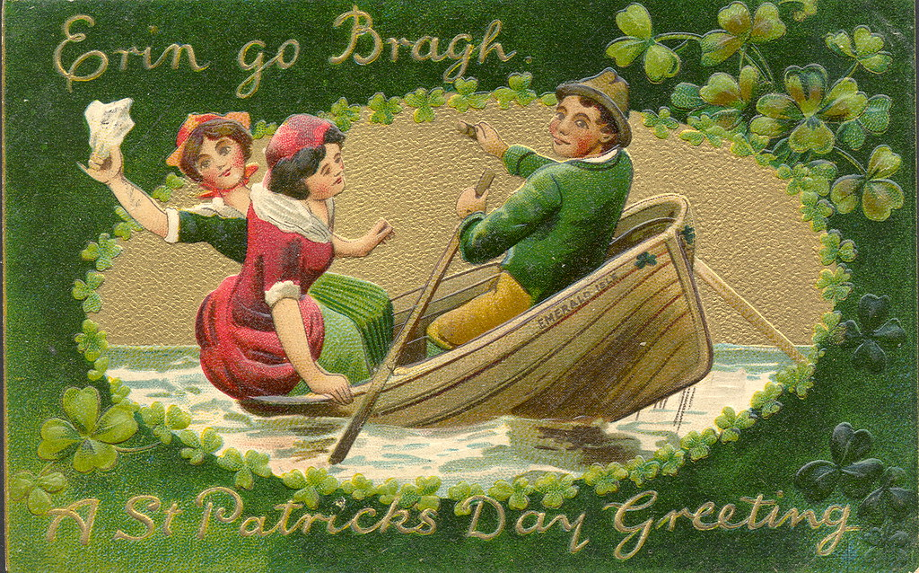 "irish americana st patricks day ""emerald isle erin go brag"