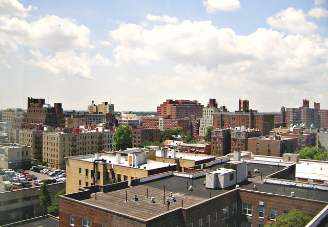 Jamaica Queens New York Rooftops View Out Over Jamaica