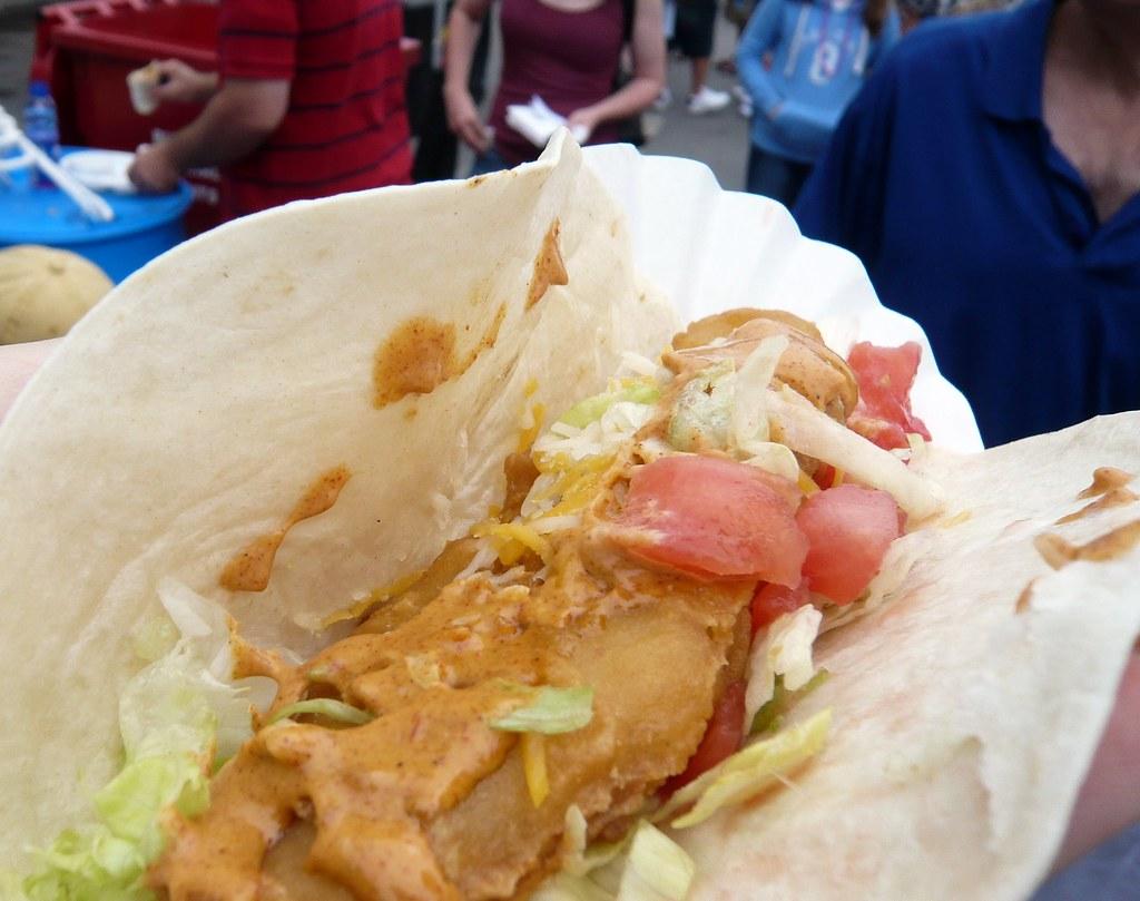 Fish taco from ava cado 39 s at the taste of buffalo 2008 for Buffalo fish taste