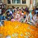ISKCON flowers - offerings Janmashtami 2014, Sunday, 17th August