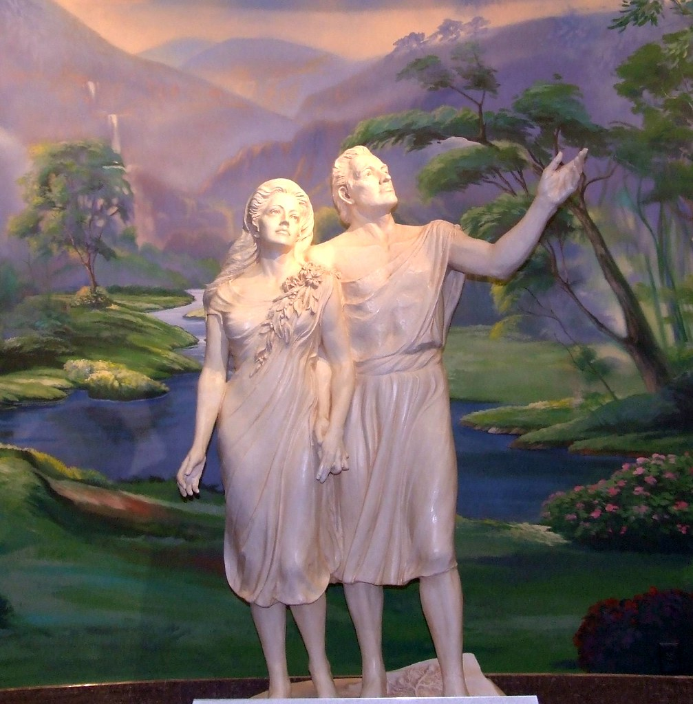 God Made Eve From Adam S Rib Quote: Adam And Eve--LDS Temple, Salt Lake City