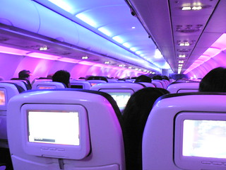 Virgin America flight interior | by Marc_Smith