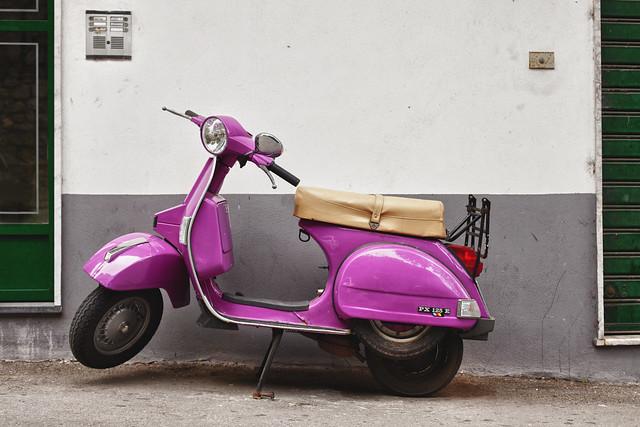 Purple Vespa   Flickr - Photo Sharing!