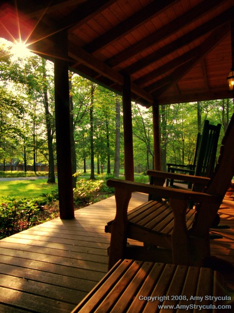 The Wrap Institute >> Sunny Country Porch | The sun peeks through and basks the lo… | Flickr