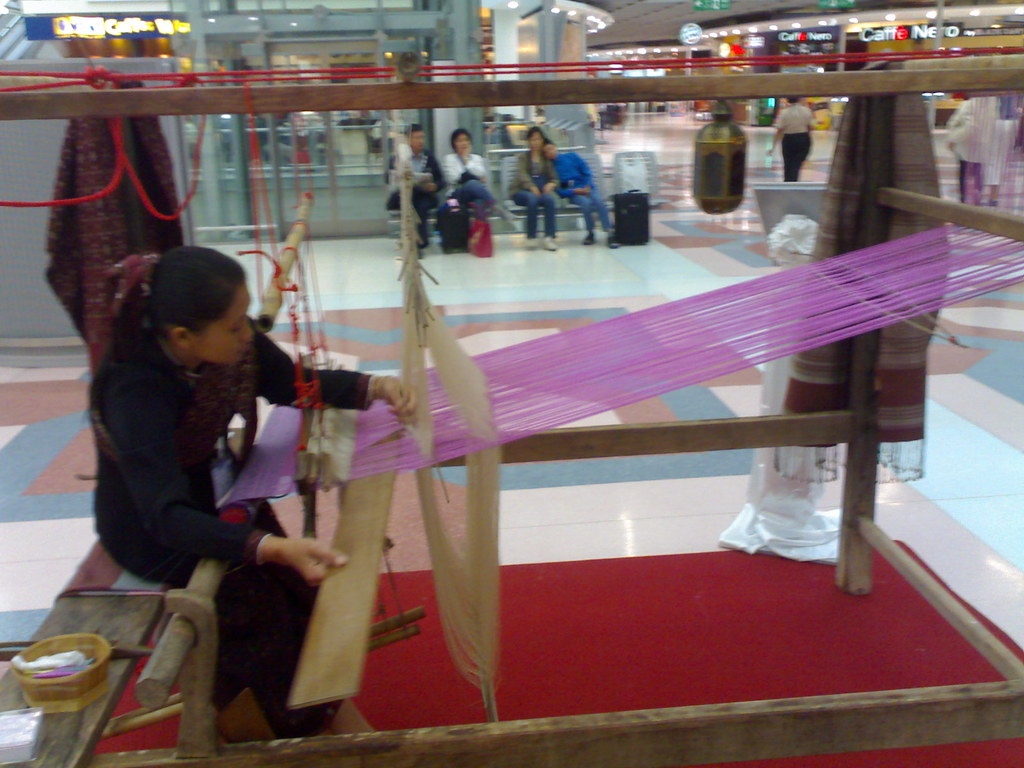 Bangkok Journal - Making Thai Silk  In Swarnabhumi airport!…  Flickr