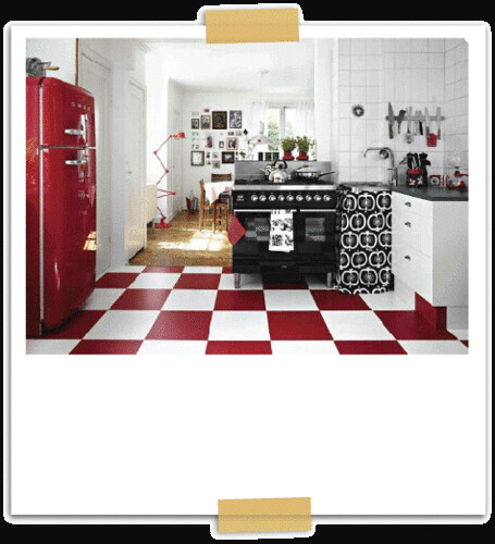 red white black kitchen by the sugar monster