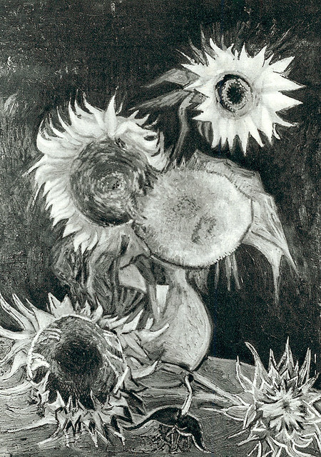 Still Life Vase With Five Sunflowers Creator Gogh