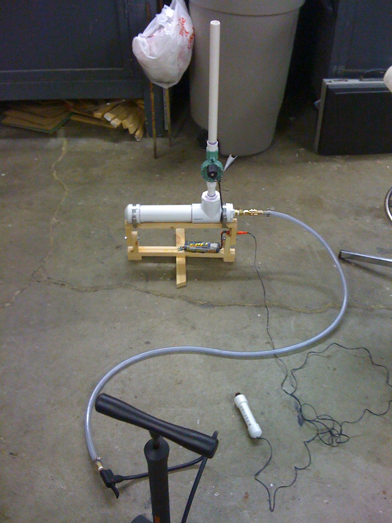 Mobile Air Compressor >> Finished Compressed Air Rocket Launcher | Completed ...