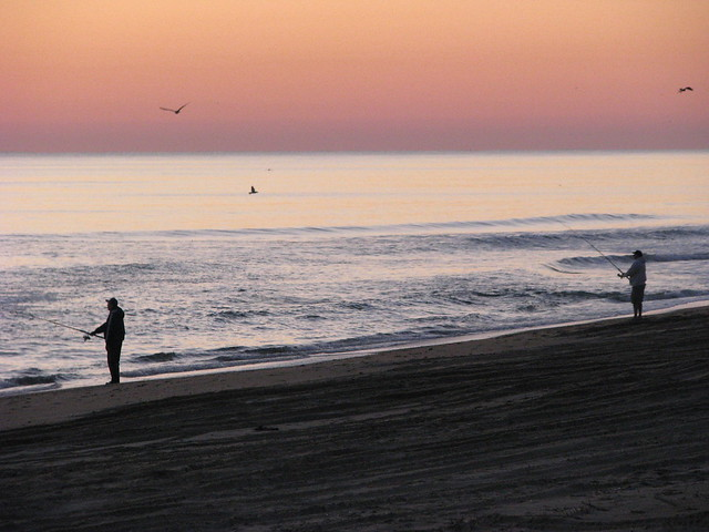 Outer banks sunrise surf fishing flickr photo sharing for Outer banks surf fishing tips