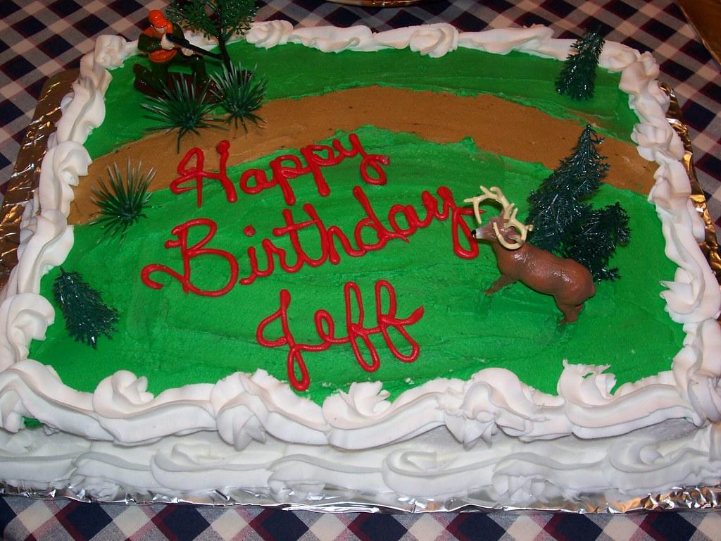 Hunting Theme Cake 1 4 Sheet Cake In Buttercream Icing