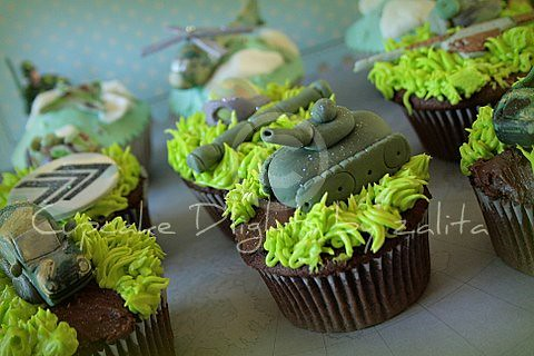 Army Themed Cakes Army Themed Cuppies by