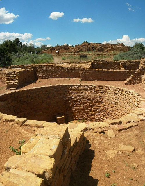 Pipe Shrine House Kiva In Front Of Far View House Dated