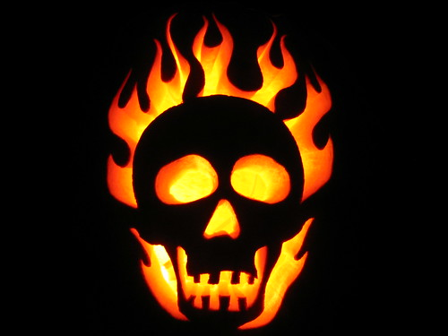 Flaming skull flickr photo sharing