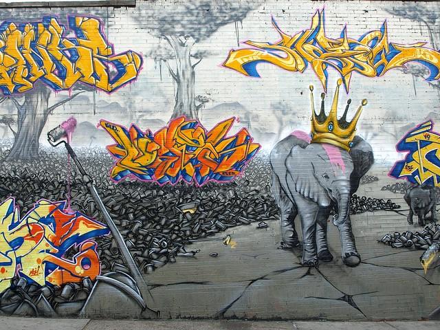 Graffiti Mural, Melrose, South Bronx, New York City ...