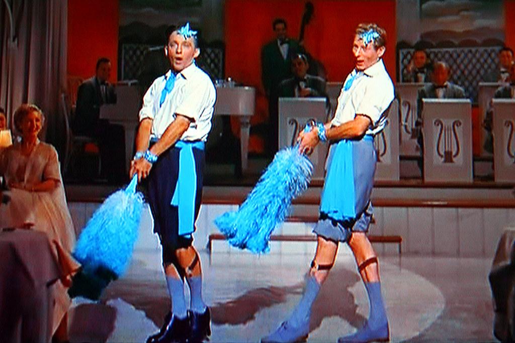 movie stars bing crosby and danny kaye tv shot by walker dukes