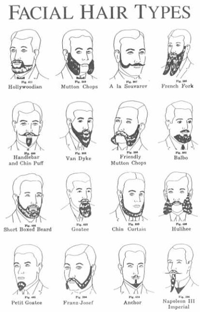 Facial Hair Types, 15 | (from wikipedia, but so awesome I … | Flickr