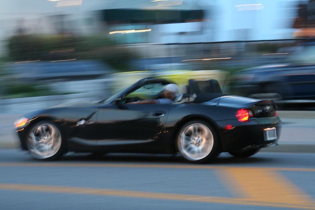 Bmw Z4 Sports Car Panning Shot Taken In Virginia Beach