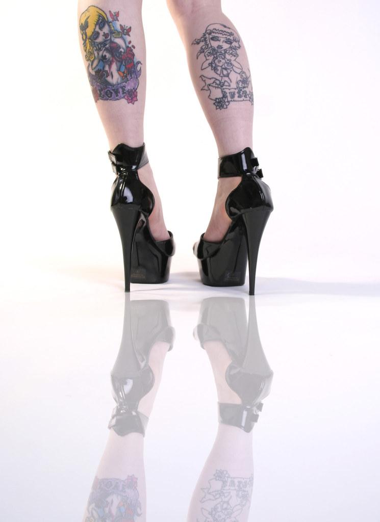 77 tattoos on legs amazing high heel shoes model wor flickr. Black Bedroom Furniture Sets. Home Design Ideas