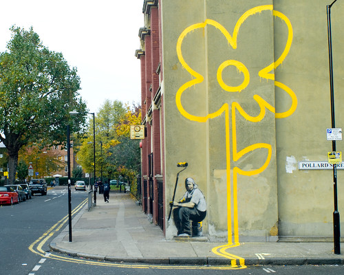 Banksy Double Yellow Flower This Mural Is Painted On