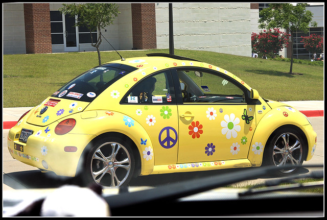 volkswagen bug flower power ahahahhahahaha    flickr