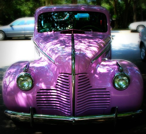the pinkest car I have ever seen