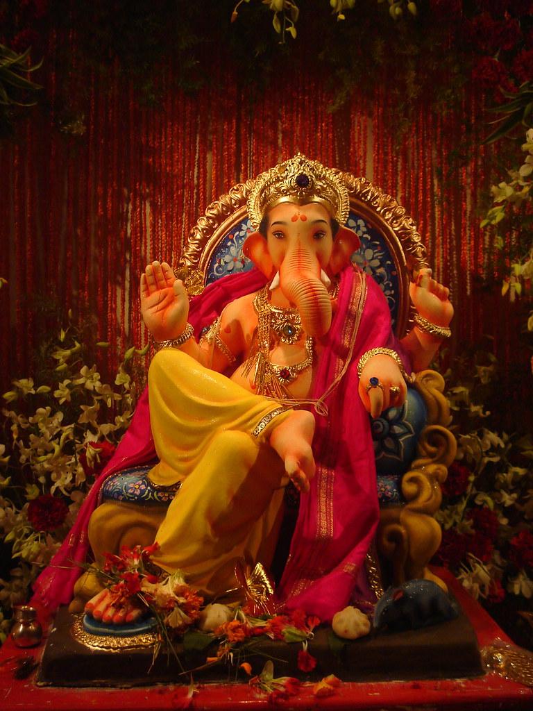 Ganesh Idol Idol Of Lord Ganesh At My Friend Amey S