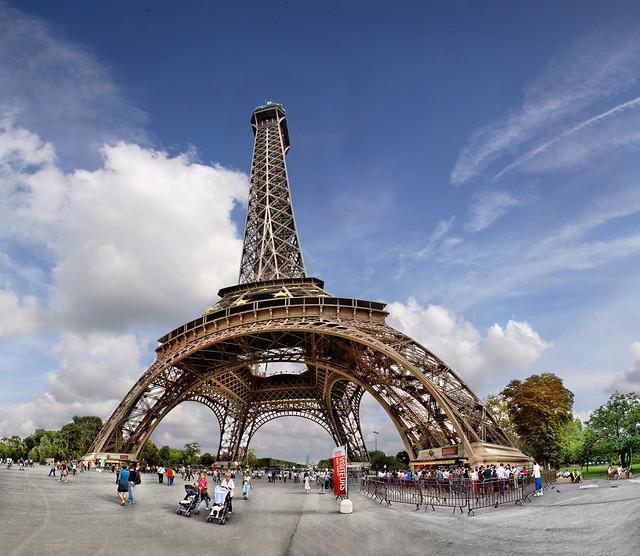 Tour Eiffel Paris France 36 Pictures Stitched Canon