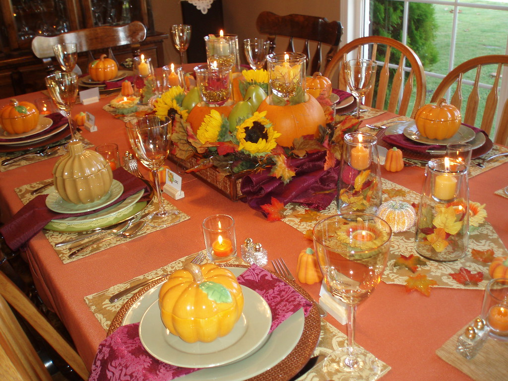 Thanksgiving Table Setting I Used The Warmest Colours Of