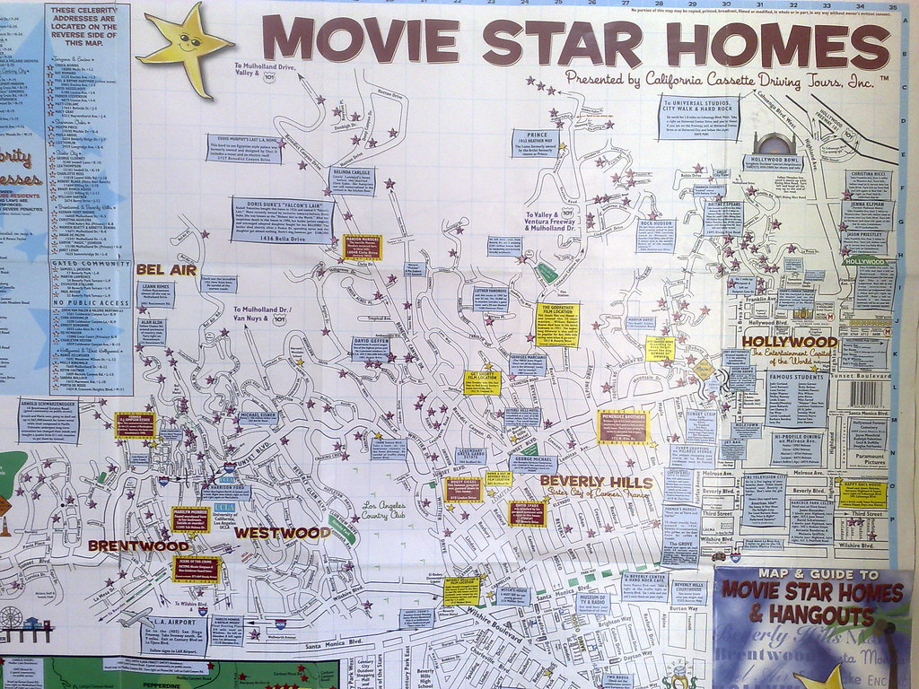 hollywood stars homes map my blog